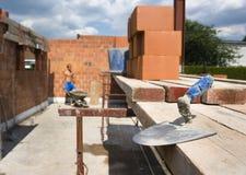 Trowel. On construction site. Under construction Stock Photo