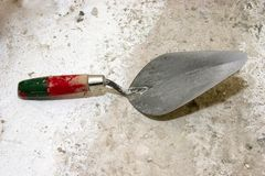 Trowel. Workmans Trowel Royalty Free Stock Photography