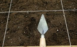Trowel by archaeologist Stock Image