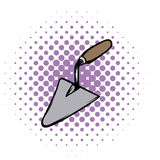 Trowel comics icon. Isolated on white background. Putty knife tool Royalty Free Stock Image