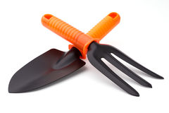 Trowel and digging fork Stock Images