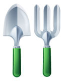 Trowel and Garden Fork Tools Stock Photo
