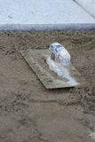 Trowel on the ground Royalty Free Stock Photography