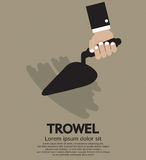 Trowel. Hand Holding A Trowel Vector Illustration EPS10 Stock Image