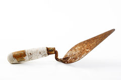 Trowel on white Stock Image