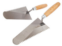 Trowel with wooden handle Stock Image