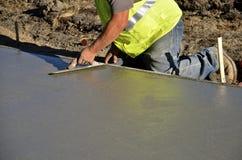 Trowelings nat beton Stock Fotografie