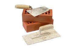 Trowels de tijolo velhos Foto de Stock Royalty Free