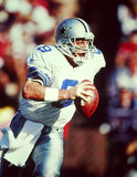 Troy Aikman. Former Dallas Cowboys QB Troy Aikman. Scanned from color slide, visible grain Stock Image