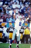 Troy Aikman Dallas Cowboys. Troy Aikman of the Dallas Cowboys celebrates a touchdown at Super Bowl XXX Royalty Free Stock Image