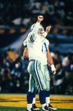 Troy Aikman Dallas Cowboys. Troy Aikman of the Dallas Cowboys celebrates a touchdown at Super Bowl XXX Royalty Free Stock Photos