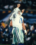 Troy Aikman. Dallas Cowboys QB Troy Aikman celebrates a touchdown.  (Image taken from color slide Stock Photos