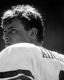 Troy Aikman. Dallas Cowboys QB Troy Aikman, #8.  (Image taken from b&w negative Royalty Free Stock Images