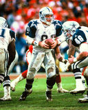Troy Aikman Dallas Cowboys. Dallas Cowboys QB Troy Aikman #8. (Image taken from color slide Stock Images