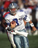 Troy Aikman. Dallas Cowboys QB Troy Aikman #8. (Image taken from color slide Royalty Free Stock Image