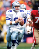 Troy Aikman. Dallas Cowboys QB Troy Aikman, #8.  (Image taken from color slide Royalty Free Stock Photos