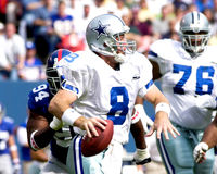 Troy Aikman. Dallas Cowboys QB Troy Aikman.  (Image taken from color slide Stock Images