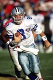 Troy Aikman Dallas Cowboys. Troy Aikman Quarterback of the Dallas Cowboys in game action Stock Photo