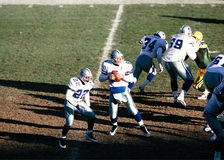 Troy Aikman en Emmitt Smith Stock Fotografie