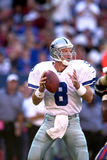 Troy Aikman. Quarterback Troy Aikman of the Dallas Cowboys in game action againist  the New York Giants. (Image taken from color slide Stock Photos