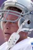 Troy Aikman. Quarterback Troy Aikman of the Dallas Cowboys gets ready againist the New York Giants Stock Photo