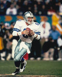 Troy Aikman. Quarterback Troy Aikman of the Dallas Cowboys. (Image taken from color slide Royalty Free Stock Photos