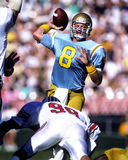Troy Aikman. U.C.L.A. college quarterback Troy Aikman.  (image taken by color slide Royalty Free Stock Photos