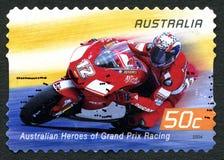 Troy Bayliss Australian Postage Stamp imagens de stock