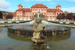 Troy chateau i Prague arkivbild