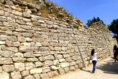 Troy den legendariska staden av Homeren royaltyfria bilder