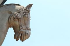 Troy horse. Head of a troy horse Royalty Free Stock Photo