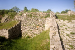Troy ruïnes, Turkije stock foto's