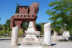 Trojan horse in turkey royalty free stock images