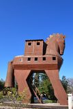 Troy in Turkey - Trojan Horse. Troy is a city is located in Hisarlik near Canakkale which existed earliest in the Bronze age and known as the center of ancient Stock Photos