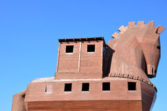 Troy in Turkey - Trojan Horse. Troy is a city is located in Hisarlik near Canakkale which existed earliest in the Bronze age and known as the center of ancient Royalty Free Stock Photo