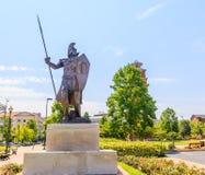 Troy University Montgomery Trojan Soldier staty: royaltyfria bilder