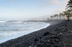 Troya-Strand an der D?mmerung in Las Amerika, Teneriffa, Kanarische Inseln, Spanien stockbilder