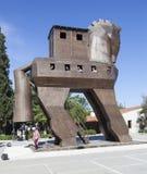 TROYA, TURQUIE - 10 MAI 2015 : Photo de modèle en bois d'un Trojan Horse Images stock