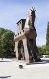TROYA, TURQUIE - 10 MAI 2015 : Photo de modèle en bois d'un Trojan Horse Photographie stock