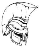 Troyano o Spartan Gladiator Warrior Helmet Fotos de archivo libres de regalías