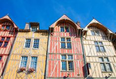 Troyes, France - Typical half-timbered houses royalty free stock photography