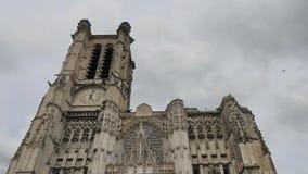Troyeskathedraal, in Frankrijk stock video