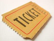 Trozo de boleto Foto de archivo libre de regalías
