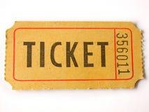 Trozo de boleto Fotografía de archivo libre de regalías