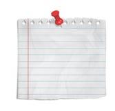 Trozo de papel Imagen de archivo