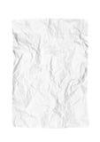 Trozo de papel arrugado Foto de archivo