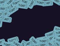 Trozos de boleto Foto de archivo