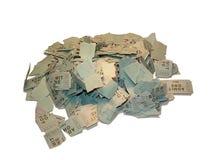 Trozos de boleto Imágenes de archivo libres de regalías