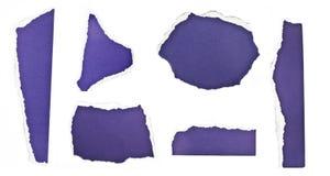 Trozos de papel rasgados Imagenes de archivo