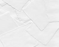Trozos de papel rasgados Imagen de archivo